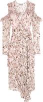 Preen by Thornton Bregazzi Alberta Floral-print Devoré-chiffon Wrap Dress - Blush