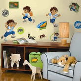 Nickelodeon Room Mates Favorite Characters 35 Piece Go Diego Go! Window Sticker Set