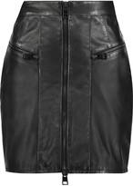 Just Cavalli Textured-leather mini skirt