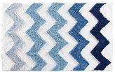 "InterDesign Chevron Microfiber Rug, 34"" x 21"", Blue/Multicolor"