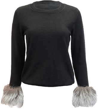 DOLCE CABO Faux Fur Cuff Pullover Sweater