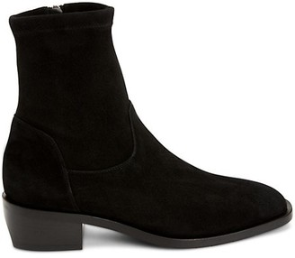 Aquatalia Fallan Stretch-Suede Ankle Boots