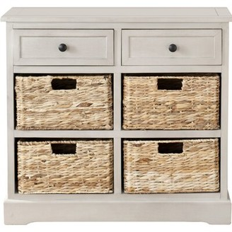 Beachcrest Home Sutherland 6 Drawer Accent Chest Color: Vintage Gray
