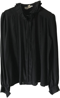 Ted Lapidus Black Silk Top for Women Vintage