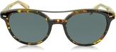 Ermenegildo Zegna EZ0006 52A Havana & Gold Acetate Round Men's Sunglasses