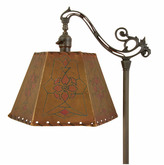 Rejuvenation Wonderful Romance Revival Floor Lamp w/ Parchment Shade c1925