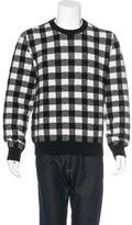Saint Laurent Wool Check Pattern Sweater