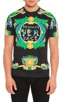 Versace Signature Miami-Print T-Shirt