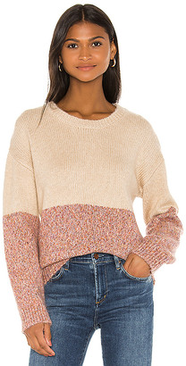 Cupcakes And Cashmere Carmel Crew Neck Sweater