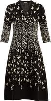 Bottega Veneta Butterfly-jacquard V-neck dress