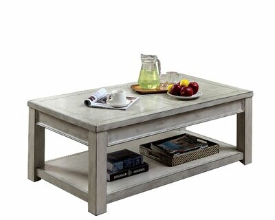 Gracie Oaks Zakhar Solid Wood Coffee Table With Storage Shopstyle