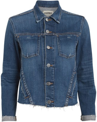 L'Agence Janelle Cropped Denim Jacket