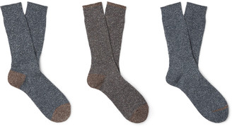 Melange Home Anonymous Ism Three-Pack Knitted Socks