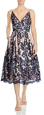 Eliza J V-Neck Lace Dress