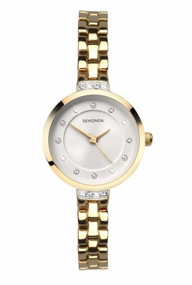 Sekonda Womens Analogue Classic Quartz Watch with Gold Plated Strap 2547.27