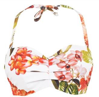 Figleaves Bali Palm Underwired Bandeau Bikini Top