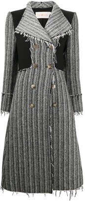 Tory Burch Double-Breasted Raw-Cut Coat