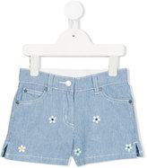Stella McCartney striped denim shorts - kids - Cotton/Polyester - 4 yrs