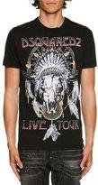 DSQUARED2 Live Tour Logo T-Shirt, Black