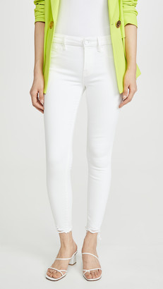 Good American Good Legs Skinny Jeans With Chewed Hem