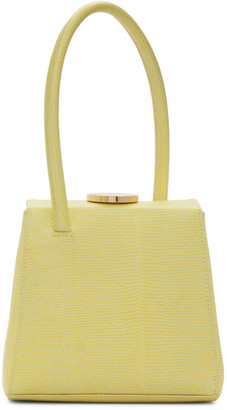 Little Liffner Yellow Lizard Mademoiselle Bag