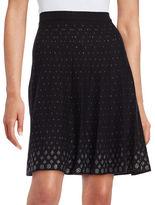 Context Sequined A-Line Skirt