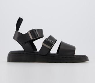 Dr. Martens Gryphon Sandals Black Brando Leather