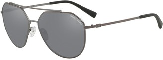 Armani Exchange AX2023S 59mm Mirrored Aviator Sunglasses