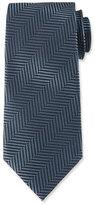Tom Ford Tweed Herringbone Stripe Silk Tie, Blue