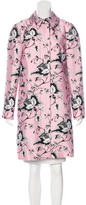 Diane von Furstenberg Knee-Length Leaf Print Coat