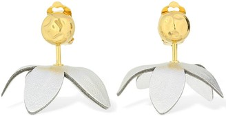 Marni Flora Leather Clip-on Earrings