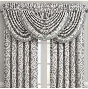 J Queen New York J Queen Pierce Charcoal Waterfall Valance Bedding