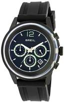 Breil Milano Men's Quartz Watch with Black Dial Analogue Display and Black Rubber Strap TW0959