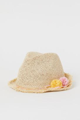 H&M Glittery straw hat