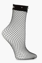 boohoo Millie Studded Fishnet Ankle Socks
