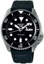 Seiko 5 Sports Automatic Stainless Steel, Silicone Leather-Strap Watch