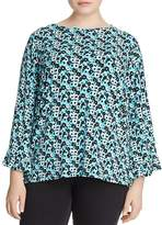 MICHAEL Michael Kors Carnation-Print Flare-Sleeve Top