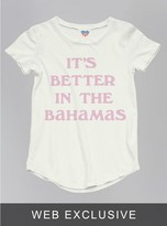Junk Food Clothing Toddler Girls It's Better In The Bahamas Tee-rad-4t