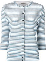 Bottega Veneta striped cardigan - women - Silk/Cotton/Polyester/Viscose - 40