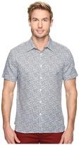 Perry Ellis Short Sleeve Linen Paisley Shirt