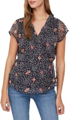 Vero Moda Kay Floral Cap Sleeve Wrap Top