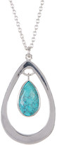 Argentovivo Sterling Silver Turquoise Teardrop Necklace
