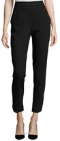 Halston Embellished Belt Crop Pants