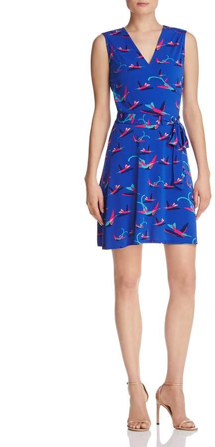 Leota Sleeveless Perfect Wrap Mini Dress