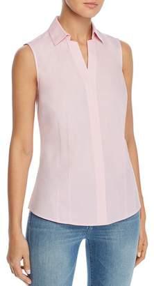 Foxcroft Taylor Sleeveless Non-Iron Cotton Shirt