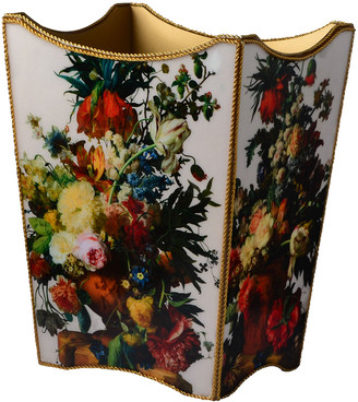 Mike and Ally Bouquet Gold Wastebasket