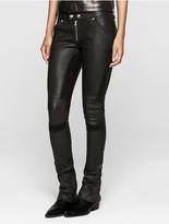 Calvin Klein Rebel Edge Leather Biker Pants