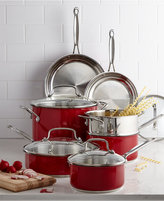 Cuisinart Chef's Classic Stainless Steel Metallic Red 11 Piece Cookware Set