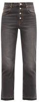 Etoile Isabel Marant Garance Raw-hem Cropped Jeans - Womens - Black