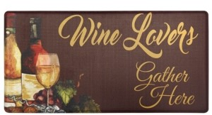 """Home Dynamix Nicole Miller Cook N Comfort """"Wine Lovers"""" Cushioned Anti-Fatigue Kitchen Mat"""